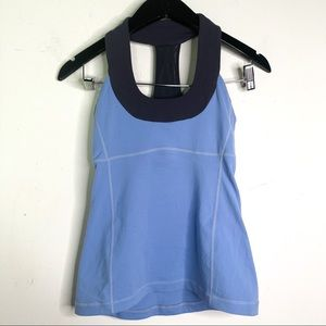 Lululemon Light Blue Scoop Neck Tank Luon